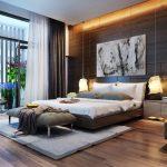 кровать с картиной