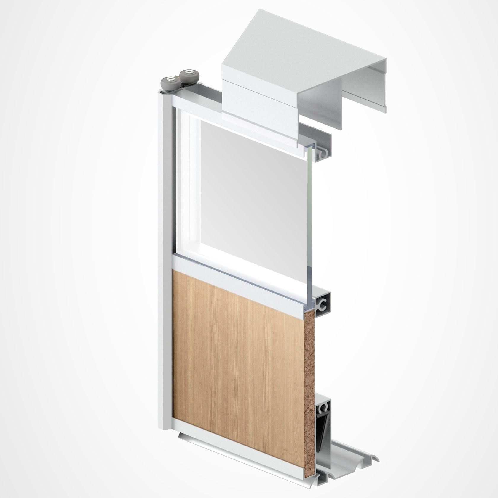 подвесной механизм дверей шкафа