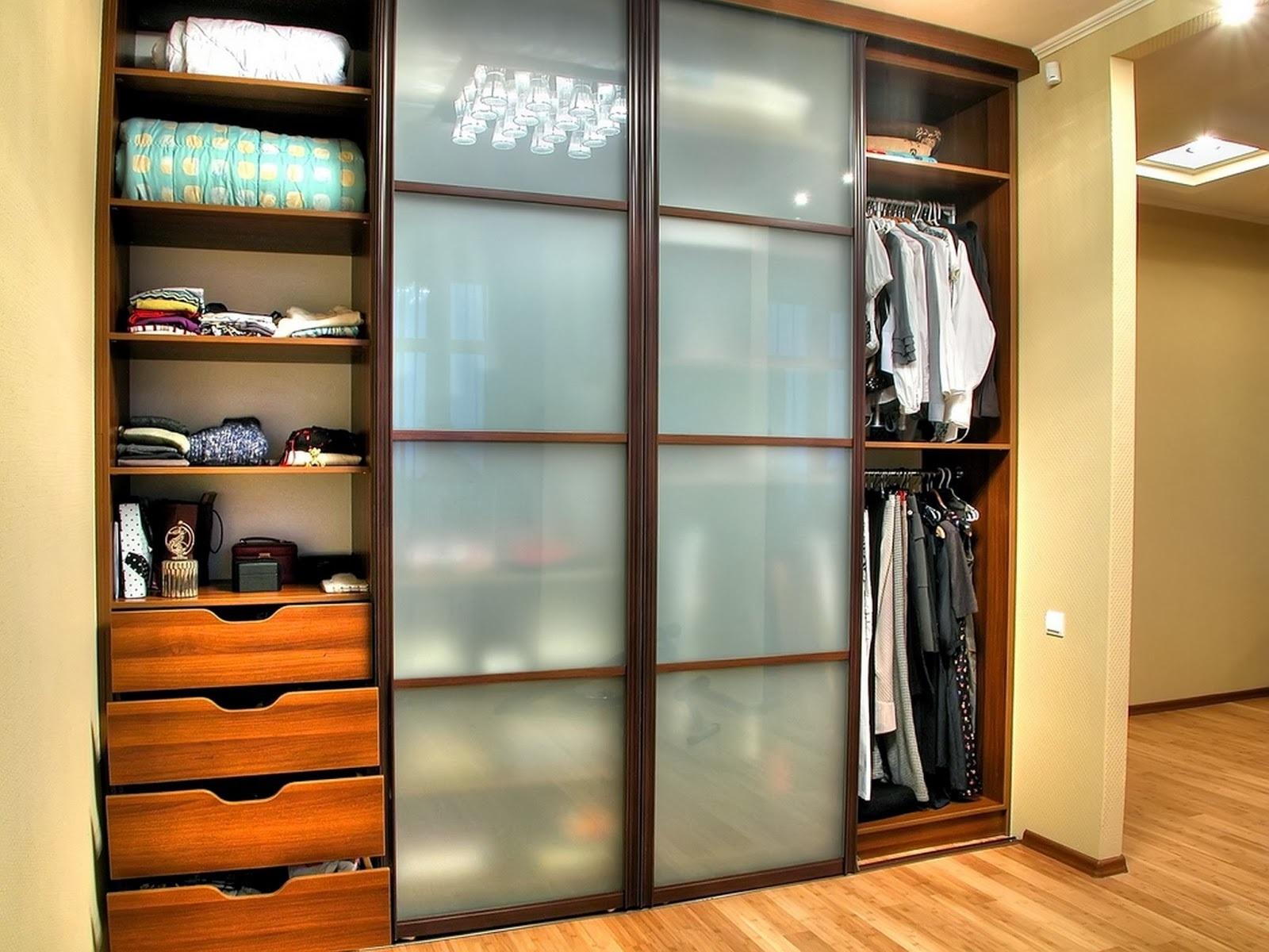открытие дверей шкафа