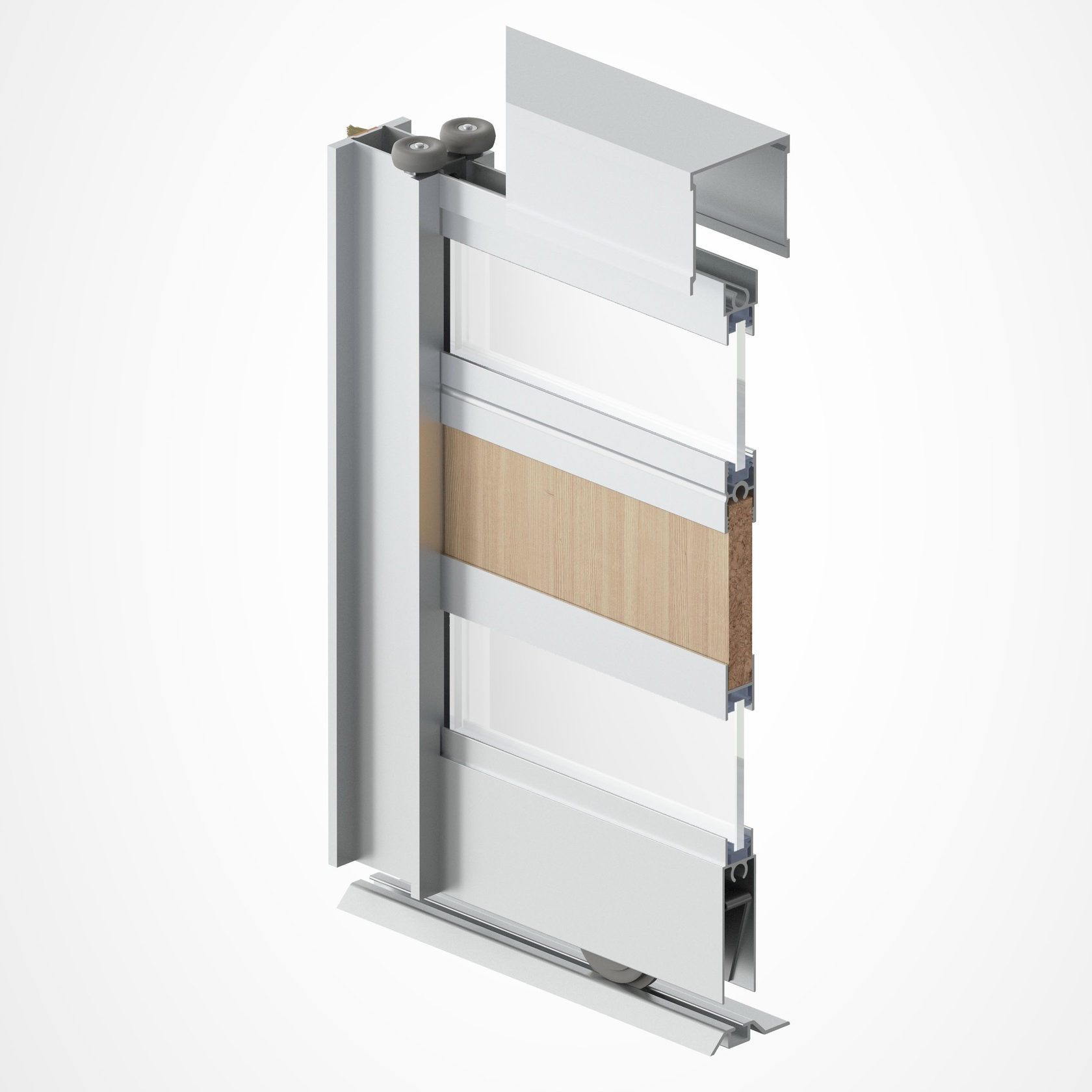 опорный механизм дверей шкафа