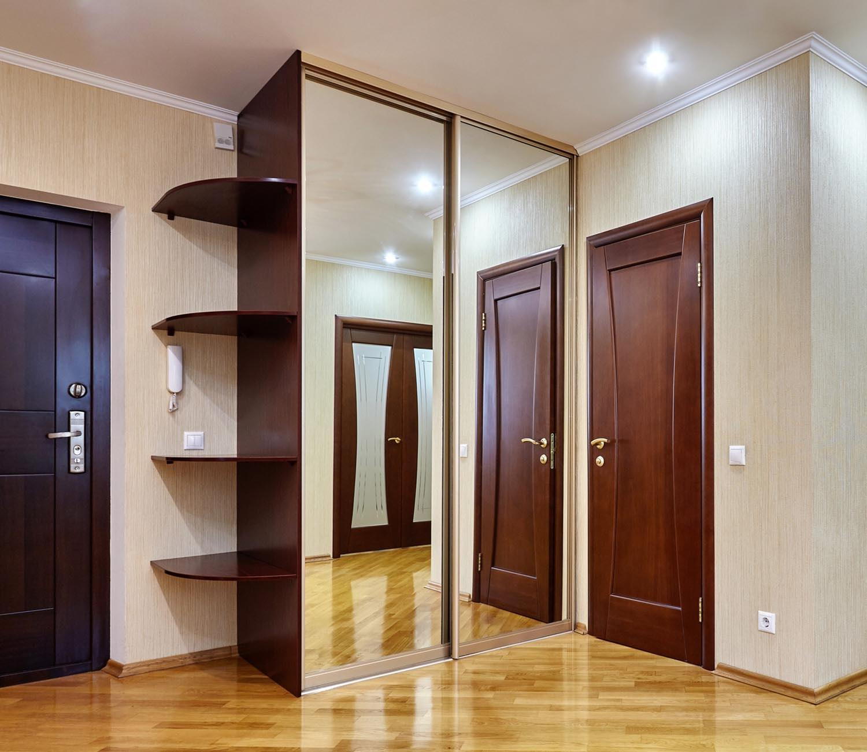 двойные двери шкафа-купе
