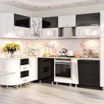 кухонная мебель черно белая