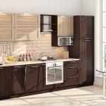 кухонная мебель темно коричневая