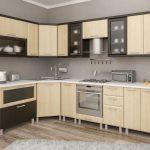 кухонная мебель бежевая