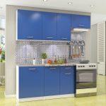 кухонная мебель синие шкафы