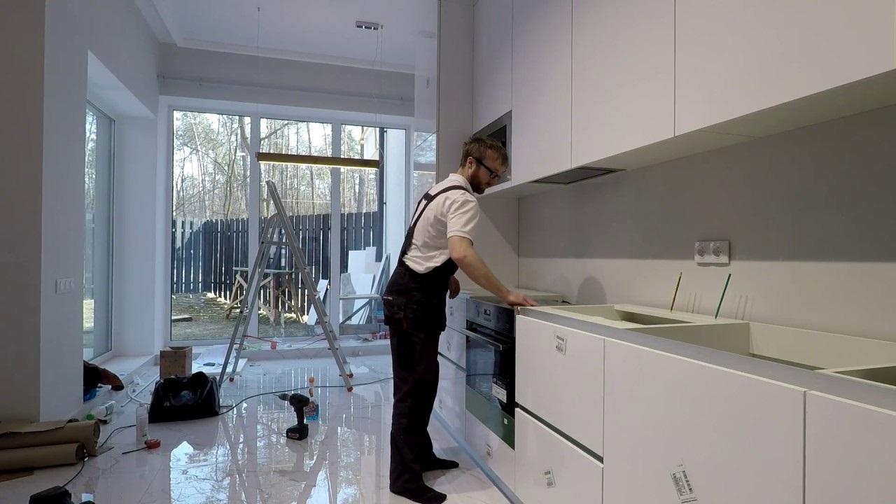 измерение габаритов кухни