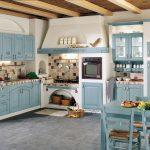 кухонная мебель голубая