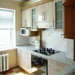 кухонная мебель кремовая
