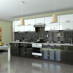 кухонная мебель темно-серая