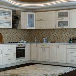 кухонная мебель белая с серым