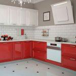 кухонная мебель красная