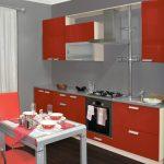 кухонная мебель оранжевая
