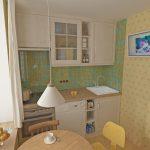 кухонная мебель светло-бежевая