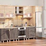 кухонная мебель с серыми ящиками