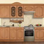 кухонная мебель шкафчики с узором