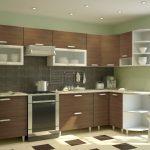 кухонная мебель клетчатый пол