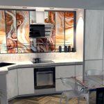 кухонная мебель с картиной