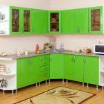 кухонная мебель зеленая