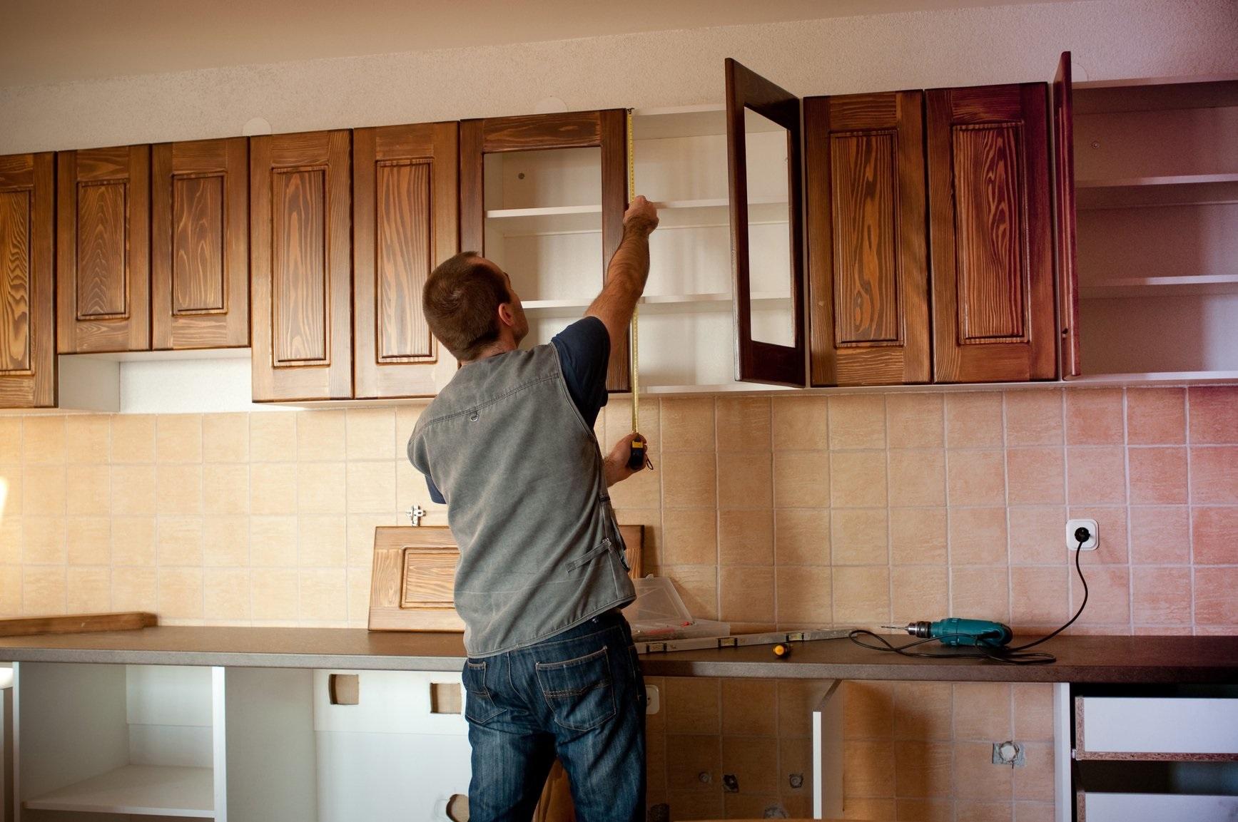 измерение кухонного шкафа