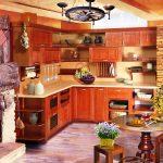 кухня изкоричневого дерева