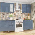 кухонная мебель синяя