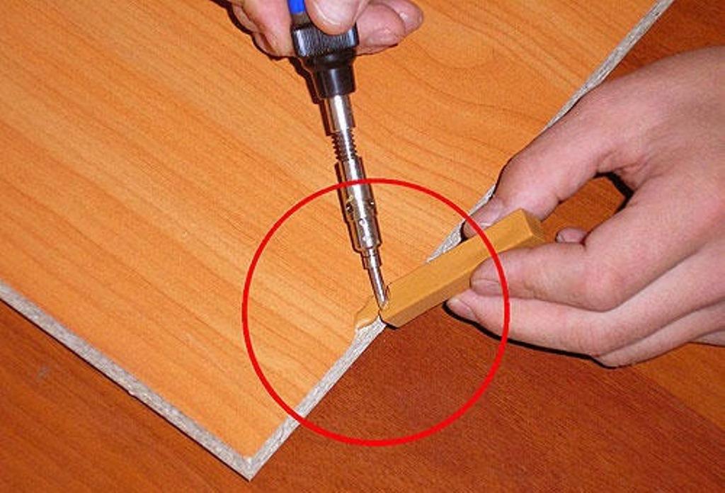 ремонт столешницы воском