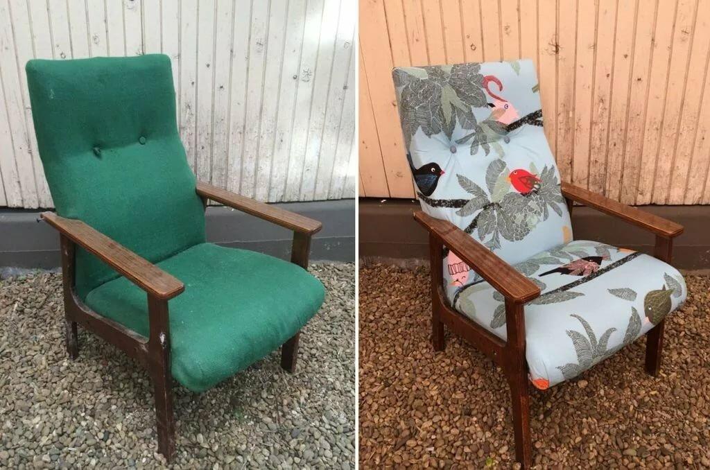 реставрация кресла фото
