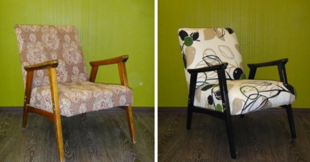 реставрация кресла советского