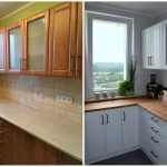 реставрация кухонного гарнитура фото интерьера