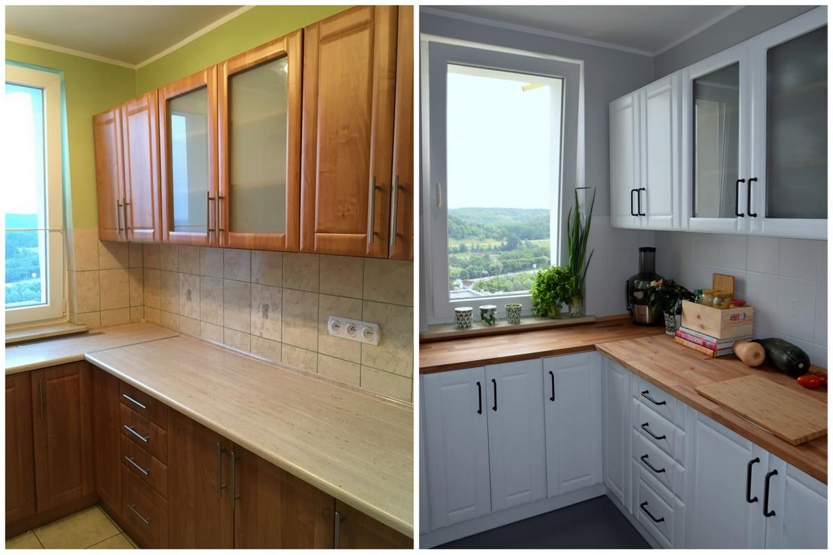 реставрация кухни фото до и после
