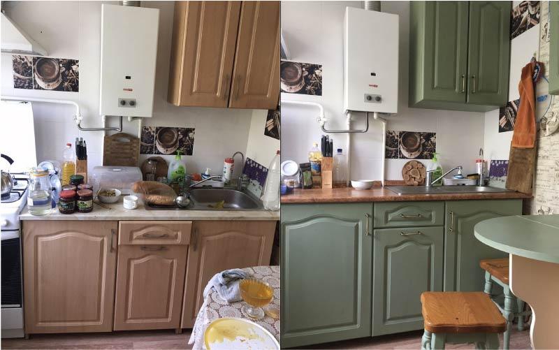 покраска кухни своими руками фото конфеты