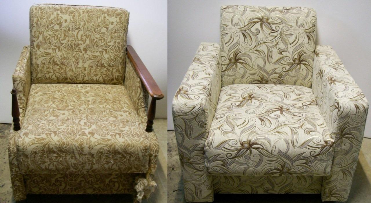 реставрация пружинного кресла своими руками