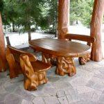 декоративные ножки для стола в беседку