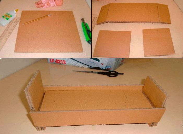 соединение картонных деталей