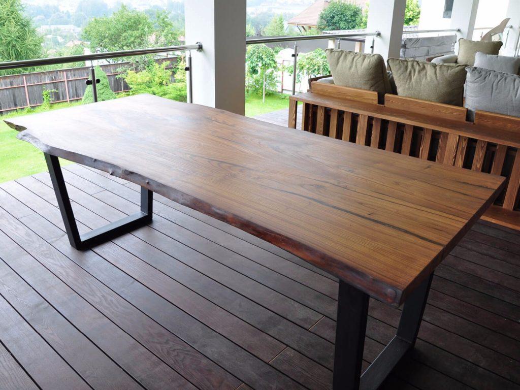 Деревянные столы для беседки фото