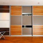 шкаф из фанеры коричневый с срым