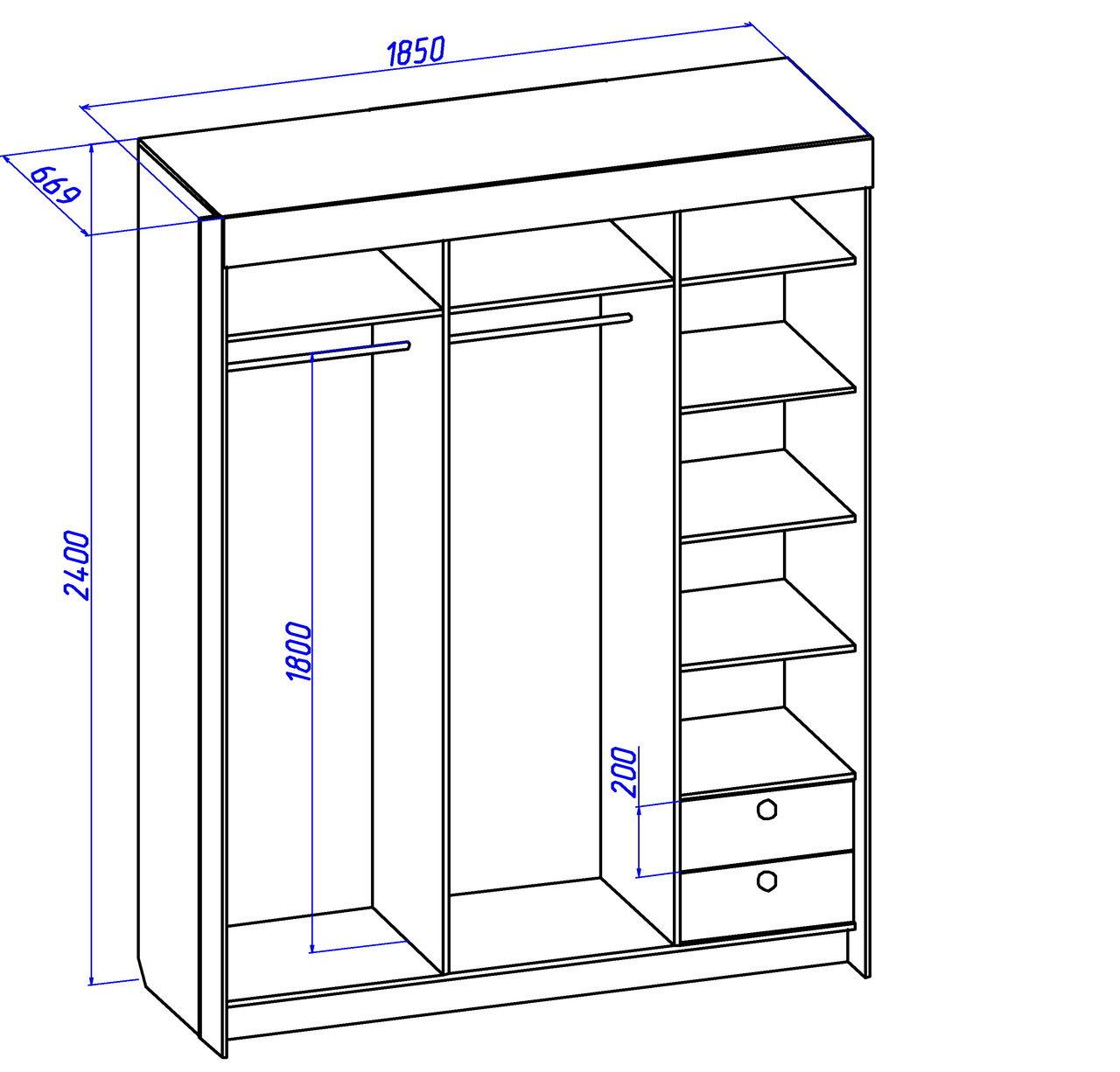 схема шкафа из фанеры