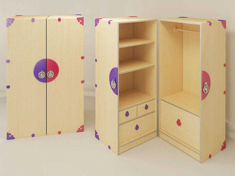 шкаф из фанеры в детскую