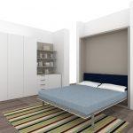 узкий шкаф со встроенной кроватью