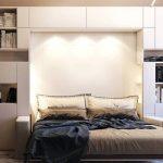 красивая подсветка для кровати в шкафу