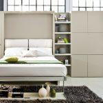 стильный шкаф-стеллаж трансформер с кроватью