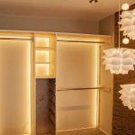 шкаф купе с подсветкой оформление идеи