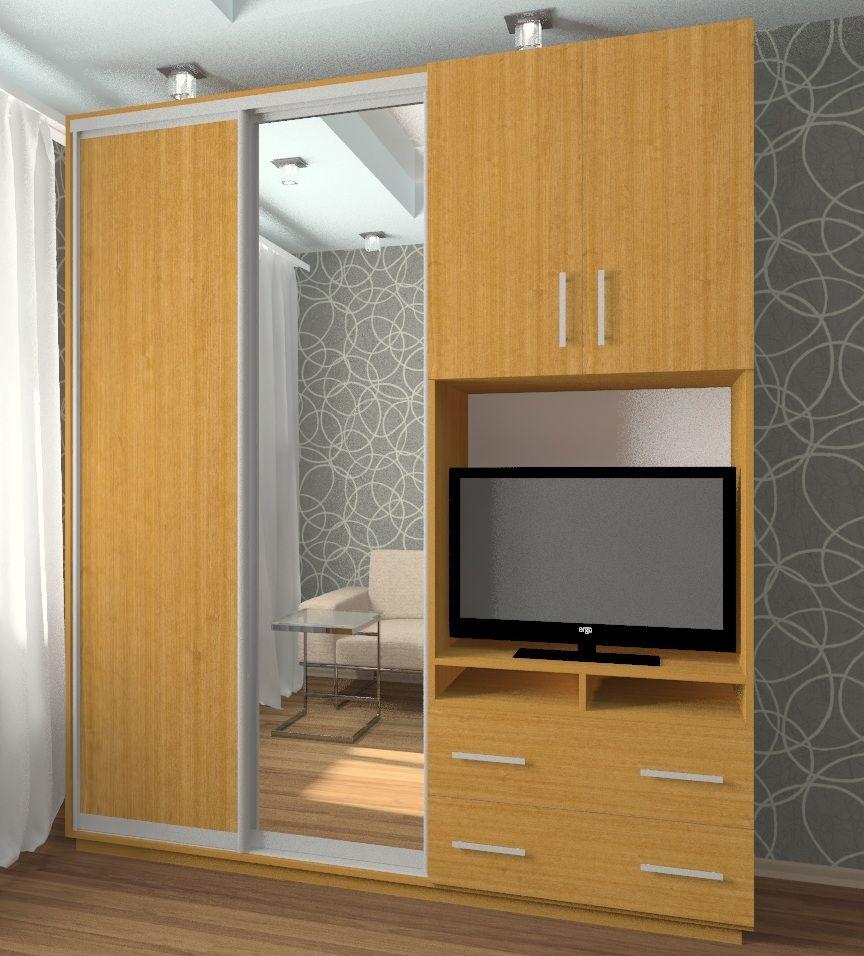 Шкафы купе с нишей под телевизор фото