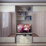 шкаф купе с телевизором идеи фото