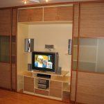 шкаф купе с телевизором дизайн идеи