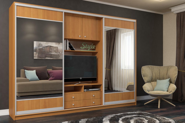встроенная мебель для гостиной фото как