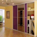 шкаф-купе встроенный фиолетовый