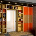 шкаф вокруг двери декор фото