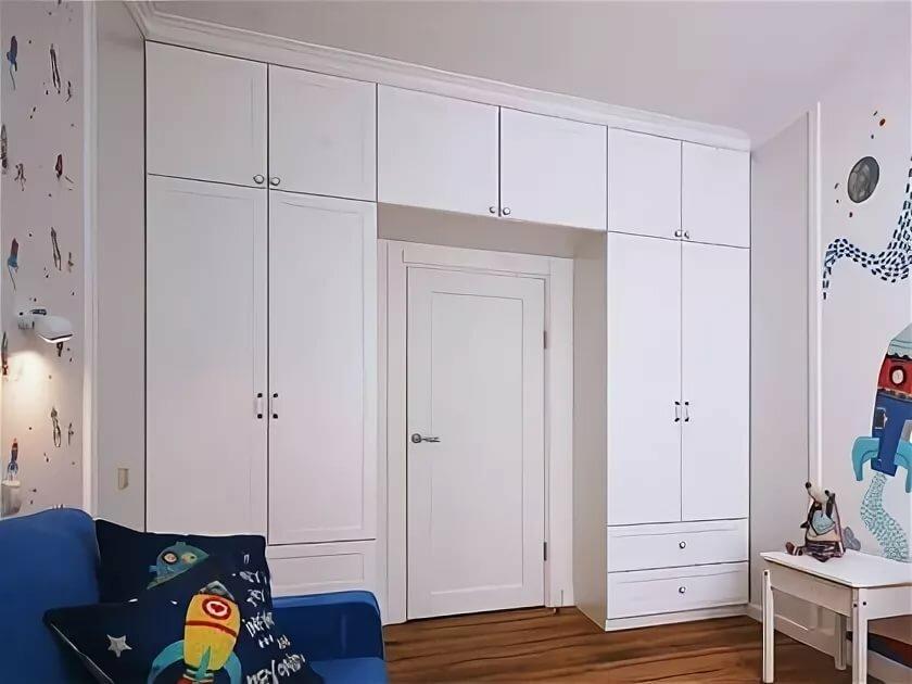 шкаф вокруг дверного проёма фото дизайн