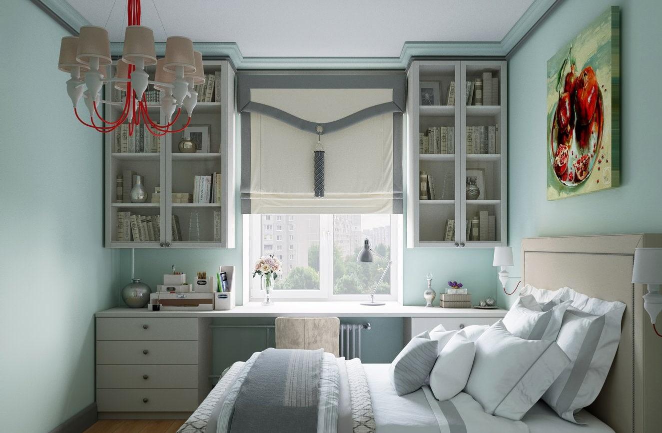 шкаф вокруг окна дизайн идеи
